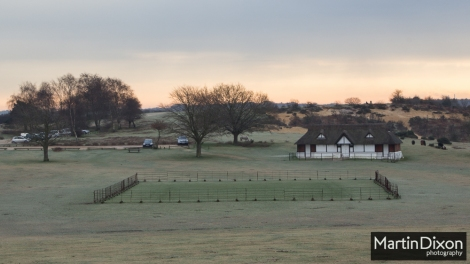 Lyndhurst Cricket Pavilion on a winter morning