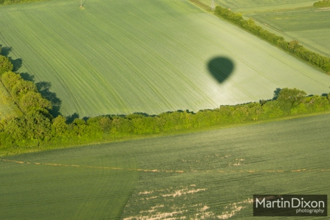 Balloon flight above Alton