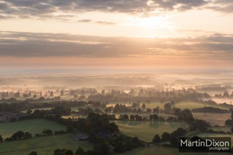 Dawn over North Hampshire