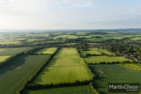 View across Holybourne towards RAF Oakhanger